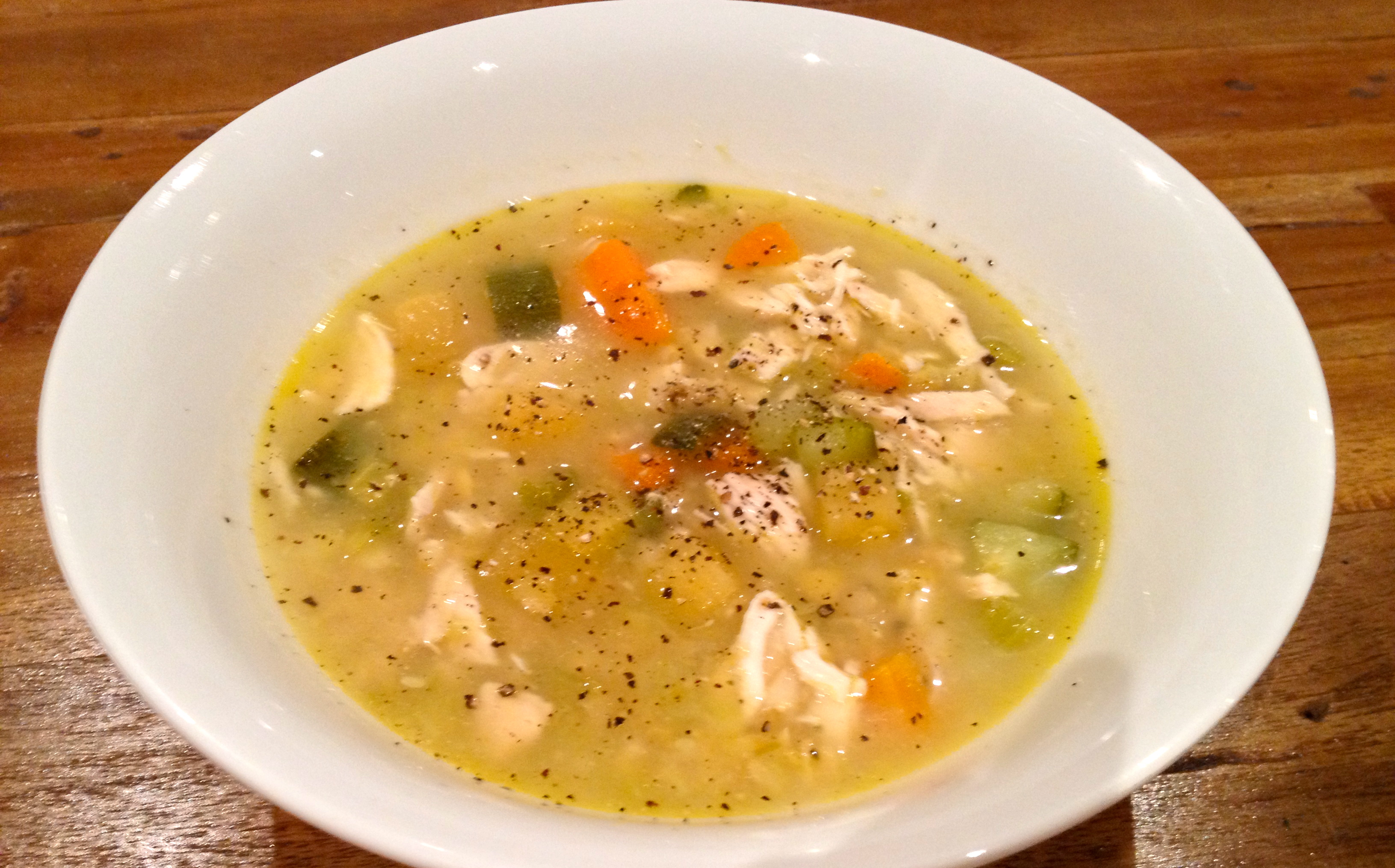 Hearty Chicken and Vegetable Soup – lazy girl fitness