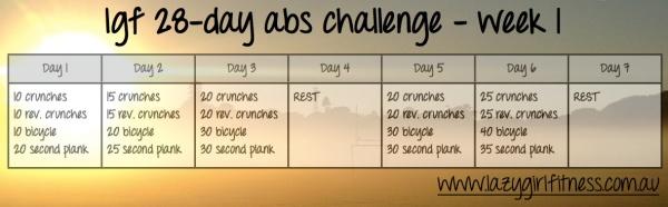 Abs challenge - week 1
