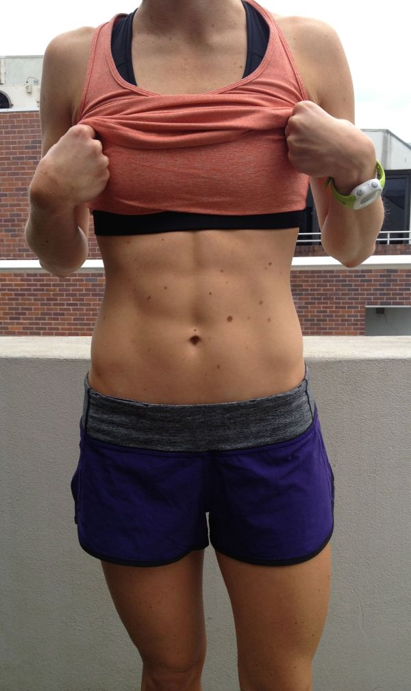My after photo - taking photos of your abs feels a little weird.