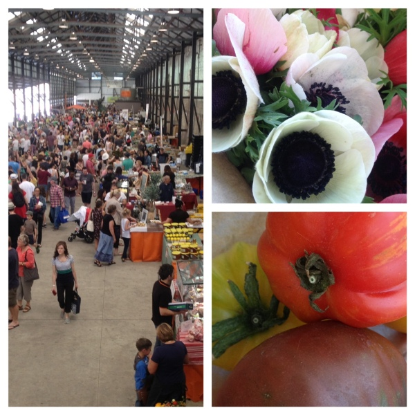 The markets from above | Jonima Flowers | heirloom tomatoes