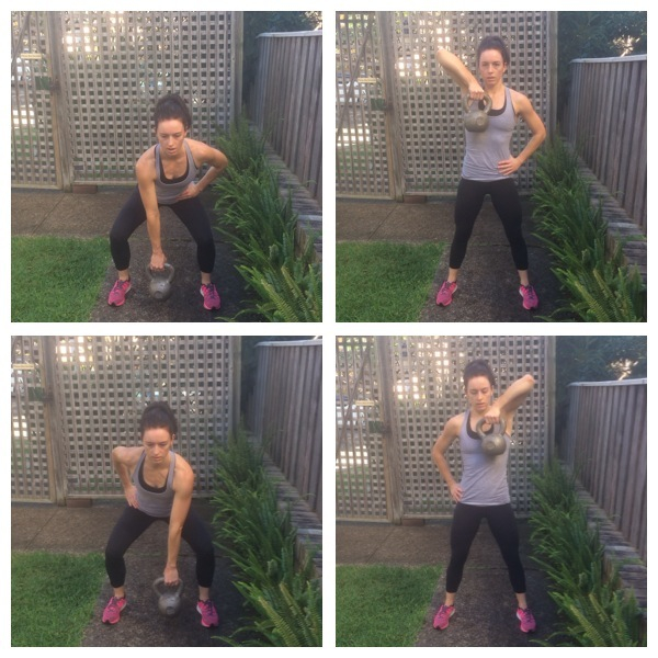 1-arm kettlebell squat row