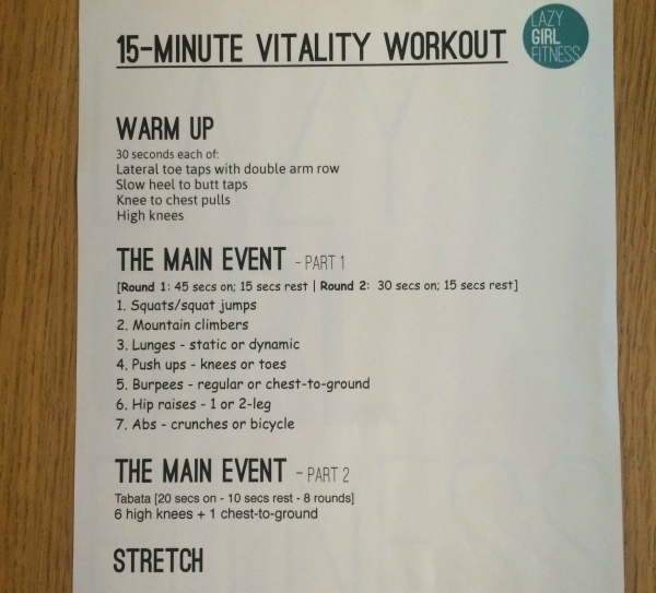 Vitality.workout