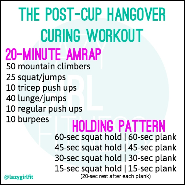 post-cup workout