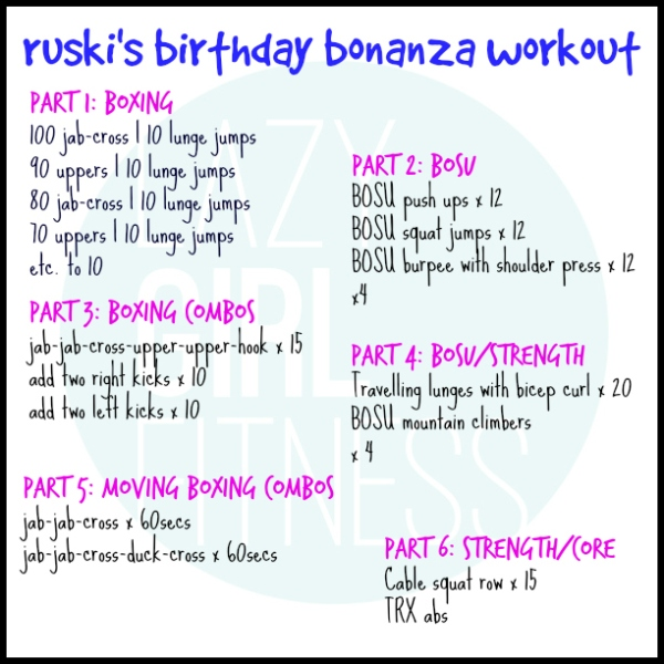 Ruski Birthday Workout