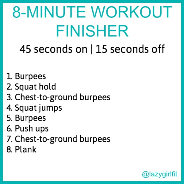 8-minute workout finisher