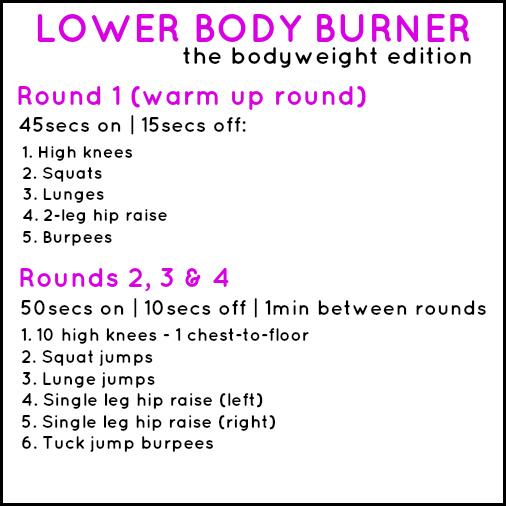 Lower Body Burner